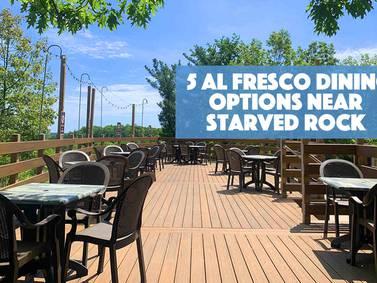 5 Al Fresco Restaurants Near Starved Rock!